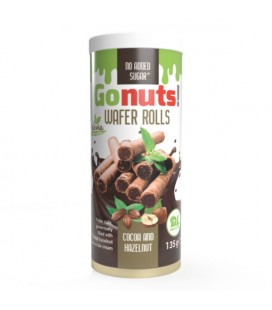 GO NUTS WAFER ROLLS 135g